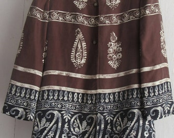Anne Klein Silk Jacket w/tribal design
