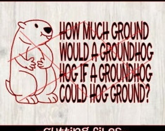 Groundhog day design, Ground hot day svg, Groundhog day cutting file design