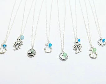 Beach Glass Nautical Necklace