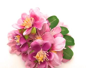 Handmade Delicate Pink Blossom Hair Flower Clip
