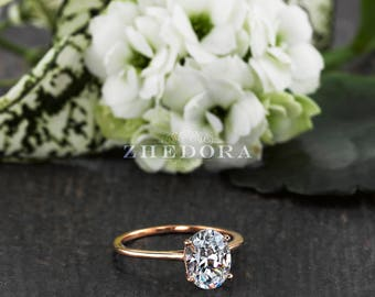 Oval engagement ring etsy dainty oval engagement ring 20 ct oval cut engagement ring thin band oval ring junglespirit Images