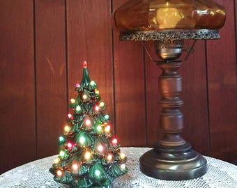vintage ceramic christmas tree holland mold christmas tree 12 inch mid century lighted - 12 Inch Christmas Tree