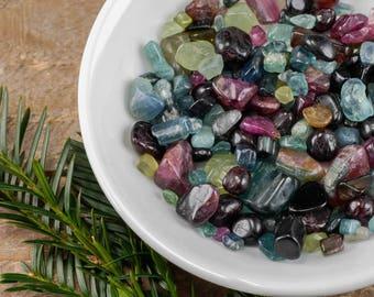5g Mixed Color Tumbled TOURMALINE - Tourmaline Crystal, Pink Tourmaline, Green Tourmaline Stone, Blue Tourmaline, Jewelry Making E0672