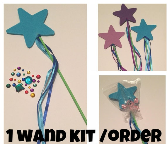 Felt wand decorating kit craft activity for kids makes 1 for Princess wand craft kit