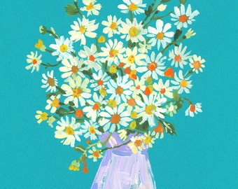 DAISIES BLUE LARGE