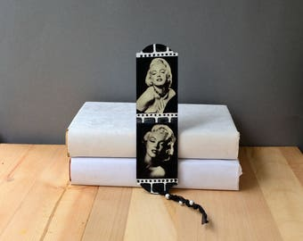 Marilyn Monroe wooden boormark Hollywod actress wood bookworm boomark books theme party favors Page book marker Christmas gift for reader