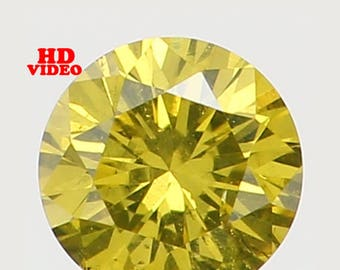 2.40 MM 0.056 Ct Natural Loose Diamond Cut Round Shape Greenish Yellow Color VS2 Clarity N5133