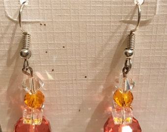 Swarovski Faceted Crystal Stone Earrings
