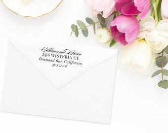 Return Address Stamp, Address Stamp, Custom Address Stamp, Script Formal Address Stamp, Personalized Return Address Stamp, Rubber Stamp 76