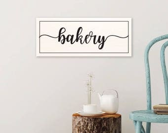 Custom painted wooden bakery sign, farmhouse decor, country chic, rustic country sign, country sign, rustic kitchen sign home 22x9