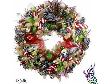 Tutorial: Christmas Wreath - Diagonal Spiral Poof Method