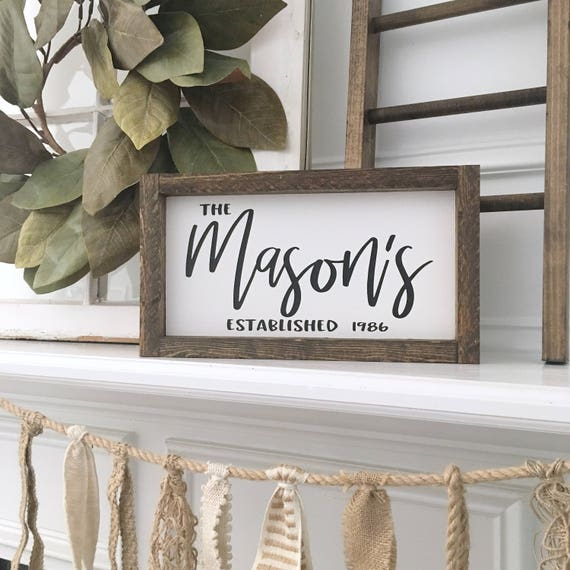 Personalized Name Sign, Custom Home Decor, Farmhouse Style Decor, Handwritten Font