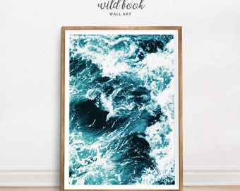 Ocean Wave Print, Surf Poster, Ocean Print, Seascape Poster, Fine Art Photography, Beach Style Poster, Digital Print, Instant Download