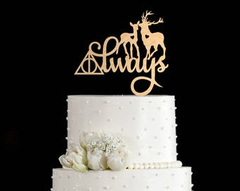 Always cake topper,always cake toppers for wedding,always wedding cake topper,always wedding topper,always cake topper harry potter,7082017