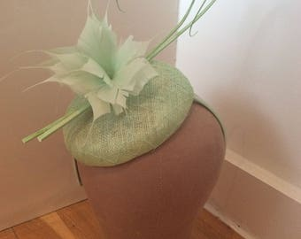 Mint Green Pillbox Fascinator