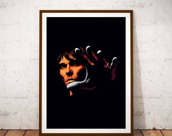 Ian Brown illustration Poster
