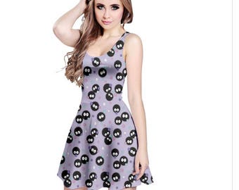 Soot Sprite Dress - Skater Dress Cartoon Dress Cosplay Dress Totoro Dress Anime Dress Ghibli Dress Spirited Away Dress Oddity Apparel
