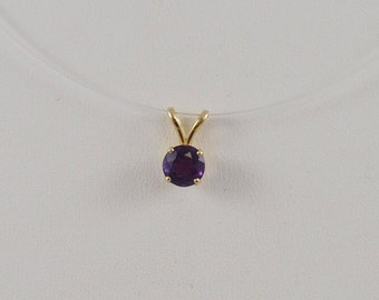 14k Yellow Gold Amethyst Pendant With Peg Bail