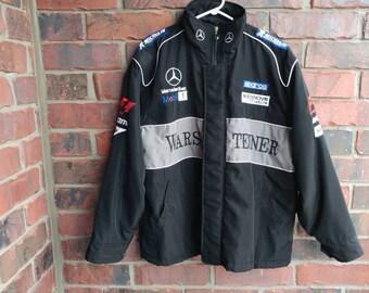 Mercedez-Benz Racing Jacket Embroidered Patch Vintage Racing Coat