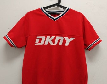 Vintage DKNY Shirt 1990s DKNY Active Spellout Top