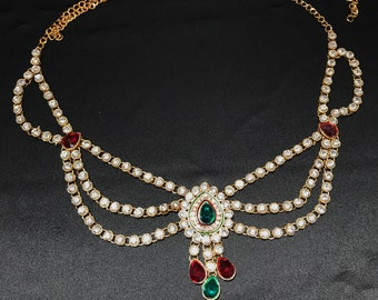 Belly Chain - Pakistani Bridal - Indian Bridal - Indian Jewelry - Kundan Jewelry - Saree Chain - Sari Chain - Indian Wedding - Kundan Bridal