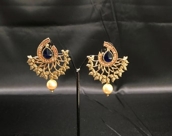 Indian Jewelry - Indian Earrings - Pakistani Jewelry - Pakistani Earrings - Kundan Earrings - Kundan Jewelry - Temple Jewelry - Desi Jewelry