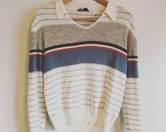 70's Retro Collared Sweater