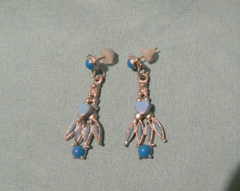 Upcycled Earrings - One Of A Kind - Handmade