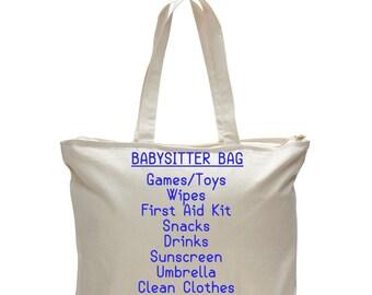 BABYSITTER BAG - Unique Gift for Babysitter, Kids Bag, Babysitter Gift, Gift for Her, Gift for Parent, Bag for Daycare, Thank You Babysitter