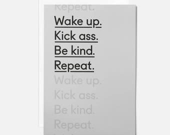 Motivational cards for friend - Encouragement card for friend - Happy mail - Positive card - Positive affirmation cards - Kick ass