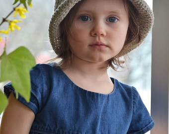 Organic Cotton Kid Sun Hats, Baby Hats, Beach Hats for Kids, Linen Kid Hat, Hats for Kids and Adults, Flexi-brim Hat, Cloche Hat, Gifts