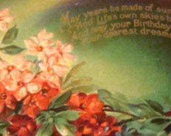 Nice Embossed Floral Postcard