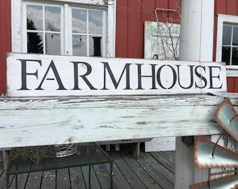 Rustic farmhouse sign