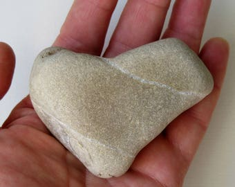 Genuine Heart Shaped Pebble from France - Romantic Gift - Gift for couple - Valentine's day - Size: 7.5 x 5.5 cm