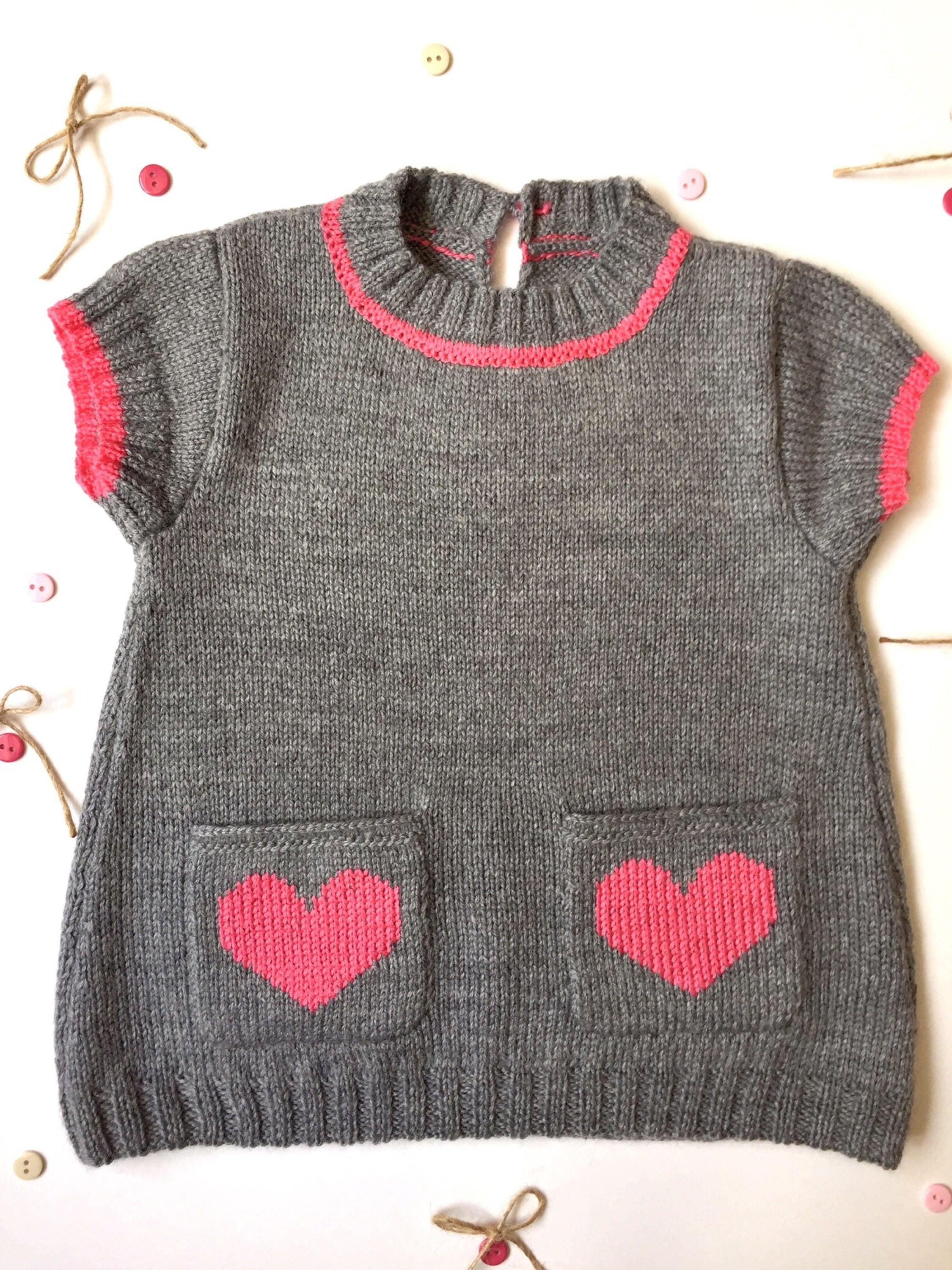 Baby knitted dress baby girl dress gray knitted dress cozy dress