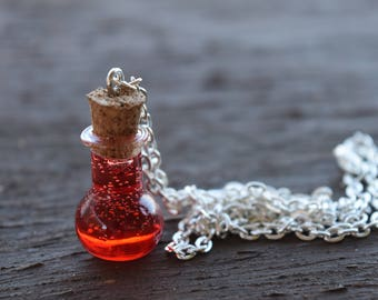 Health Potion Pendant Necklace