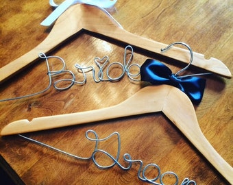 Bride and Groom Hanger Set