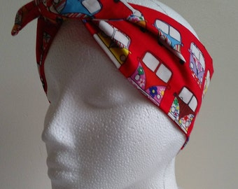Rockabilly, Retro Camper van headscarf