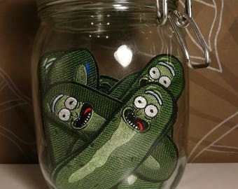 Rick & Morty - Pickle Rick iron-on Patch - 100% embrodery