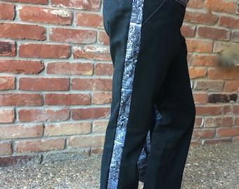 8-10 yr Upcycled Girls' Tuxedo + Bow Pants