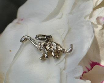 Vintage sterling silver dinosaur charm pendant