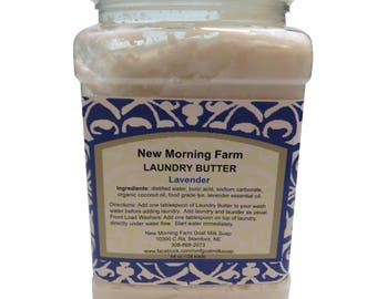 New Morning Farms, Goat Milk Soap, Laundry Butter, Lavender, Laundry Detergent, Replacement, Unscented Laundry Soap, Fresh Scent