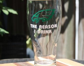 Philadelphia Eagles 19 fl oz Beer Glass - Customize