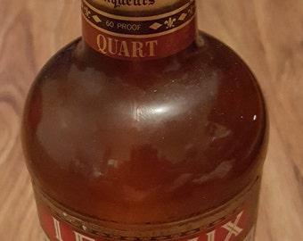 Vintage Triple Sec empty Liquor bottle, vintage bottle, liquor bottle collection, home decor