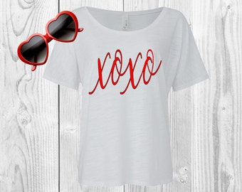 Xoxo Valentine's Day Shirt, Cute Tees, Tops and Tees, Cute Shirt, Valentine Shirt, Valentine's Day, xoxo, Be Mine, Happy V Day