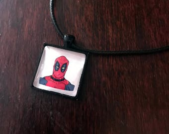 Deadpool/Wade Wilson original fan art pendant necklace!