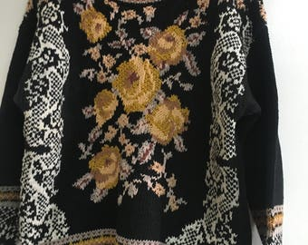 1980's vintage woven sweater