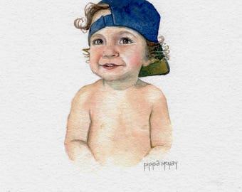 Custom Watercolor Portrait, Custom Original Hand Painted Watercolor Portrait Painting, Custom Art, Watercolor, Gift Idea,