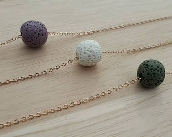 Floating Lava Bead Diffuser Necklace