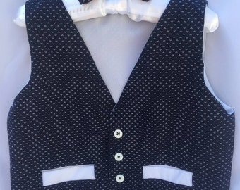 Toddler Vest and Bow Tie Set